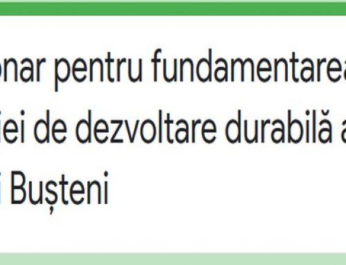 Chestionar pentru fundamentarea Strategiei de dezvoltare durabilă a orașului Bușteni